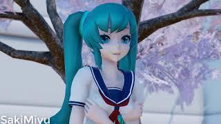 ◤MMD◢ ↬ Thank you,next  【Saki Miyu】