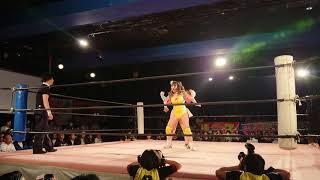 tokyo  girl's  pro  wrestling 桐生真弥デビュー戦 中島翔子&白川未奈 vs うなぎひまわり&桐生真弥