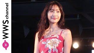 佐野ひなこが花柄のキャミソールでランウェイに登場!<TGC BEACH 2019>