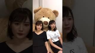 180620 川上礼奈 大段舞依 上西恵 instagram live