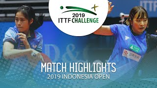 Sawettabut Suthasini vs Miyu Maeda | 2019 ITTF Indonesia Open Highlights (1/4)