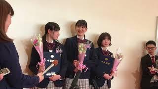 X21 小澤奈々花 籠谷さくら 松田莉奈  堀越高等学校卒業式