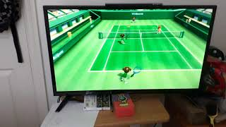 Wii sports tennis Midori VS Miyu and Matt
