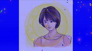 【 夏菜 】女優の似顔絵イラスト描いてみた