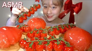 ASMR トマト飴🍅Candied Tomato 토마토 탕후루【咀嚼音/大食い/ Mukbang/Eating Sounds】