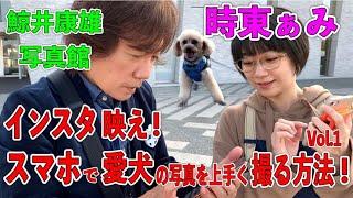 時東ぁみ インスタ映え!スマホで愛犬の写真を上手く撮る方法!Vol.1 鯨井康雄写真館
