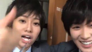 男装した桜井玲香氏と高山一実氏の男っぽい行動
