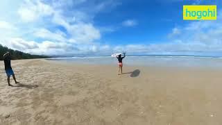サーフィンに夢中な深田恭子!