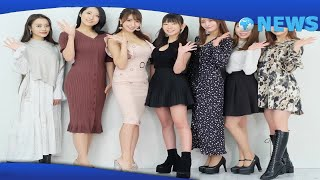 ✅  森咲智美(28)、長澤茉里奈(25)らグラビアアイドル7人が27日、オンライン特典会アプリ「チェキチャ」PRイベントに出席した。