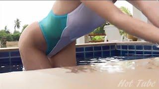 星島沙也加(グラビアアイドル)競泳水着