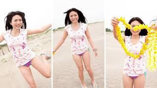 浜辺を水着ではしゃぎまわる「川村ゆきえ」が可愛すぎる