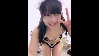 川崎あやちゃんの水着自撮り動画 ウィンクが世界一かわいい