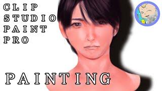 【クリップスタジオ・色塗り】鈴木咲さんを参考に練習です。