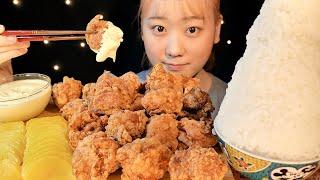 ASMR マヨ唐揚げ Fried Chicken 튀김【咀嚼音/大食い/Mukbang/Eating Sounds】